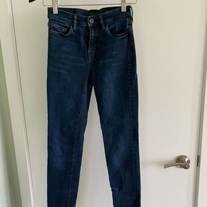 All Saints High Rise Skinny Jeans, Size 26